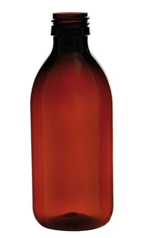 Clear PET bottle, PP28 neck, 250 ml, 126 pc