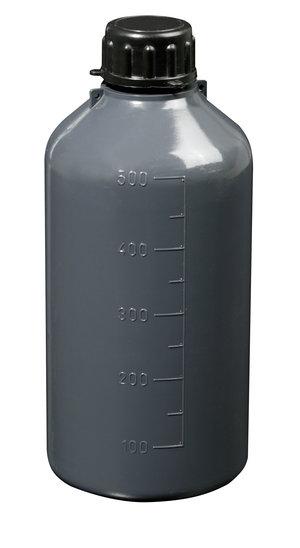 Narrow neck graduated bottle, cylindrical, LDPE, 125 ml, 100 pcs