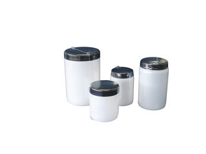 Wide mouth bottle with lid and insert plug, HDPE, aseptic and single film wrapped, 500 ml, 160 pcs