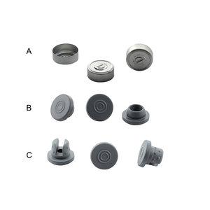 Aluminium crimp seal cap for injection vial Ø 20 mm, 100 pcs