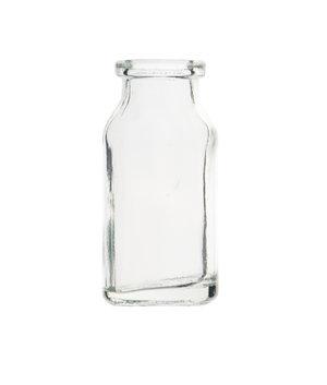 Clear crimp cap sample vial, type III, neck Ø20 mm, 10 ml, 195 pcs