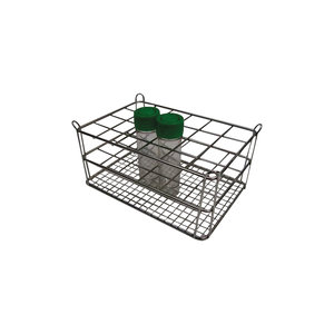 Stainless steel rack for 8 x 6 vials (< Ø16 mm), height : 30 mm