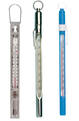 Thermometer stainless steel shielded, +80 +200 ºC, accuracy:±1 ºC