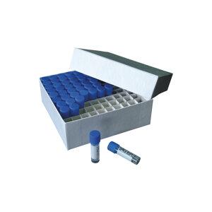 Carton freezer box for 81 cryotubes up to 2 ml, white