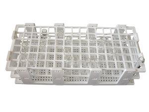 Test tube rack, polypropylene, up to 21 tubes (Ø 30 mm)