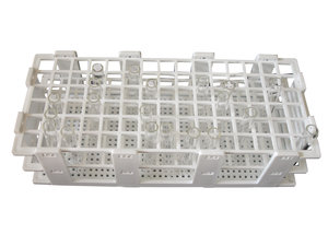 Test tube rack, polypropylene, up to 90 tubes (Ø 13 mm)