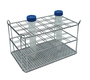 Stainless steel rack for 6 x 4 50 ml centrifuge tubes, double wire