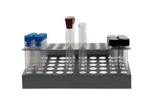 Test tube rack (Z type), aluminum, 5x10 (Ø 14,5 mm)