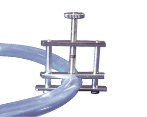 Hoffman tube clip, 27 mm, nickel plated steel, 5 pcs