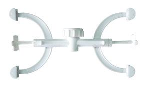 Burette clamp, Fisher type, polypropylene, double for 2 burettes