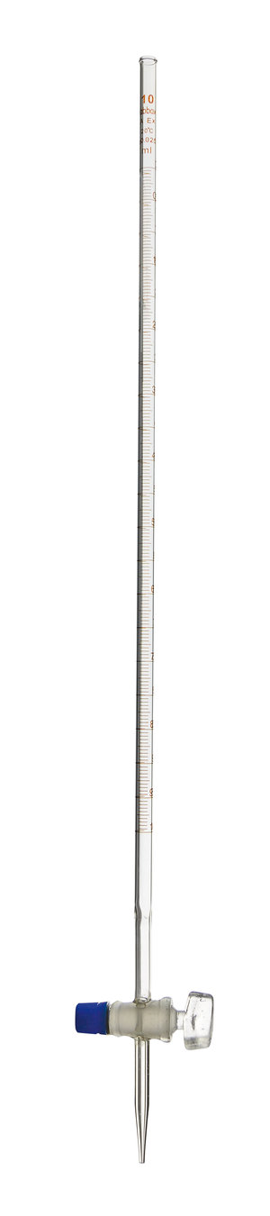 Burette with straight stopcock, class A, 10 ml