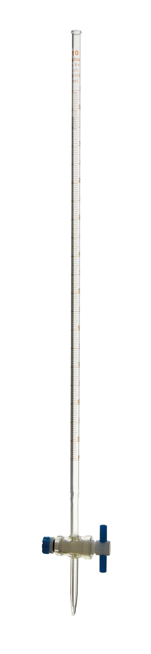 Burette with PTFE straight stopcock, class A, 25 ml