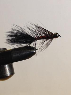 Wooly Bugger Red-black beadhead