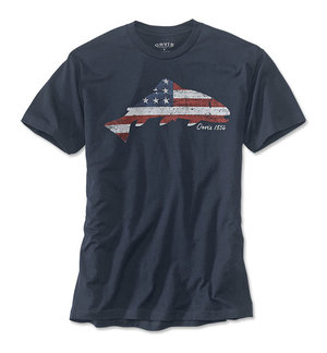 Orvis American Flag Trout Tee