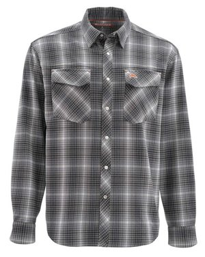 Simms Gallatin Flanel Shirt raven plaid