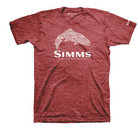 Simms Stacked Typo Red Heather
