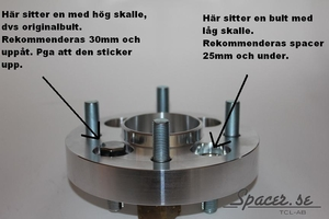 Bolt-on Spacers-X 5-bult D149 Max 5/120
