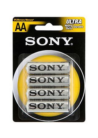 4-pack AA Batterier Sony