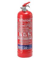 Eldsläckare i stål med pulver 2kg.  Levereras med fästanordningar. Diameter 102mm.
