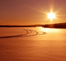 Soluppgång Torneälven