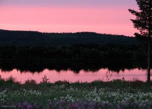 Midnattssolshimmel Torneälv
