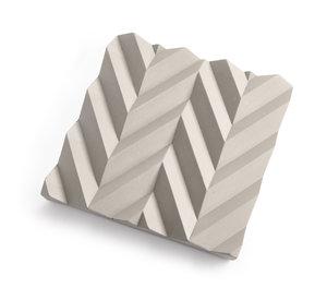 """Betongfat """"Origami"""" grå"""