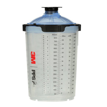 3M PPS 2.0 Innerbehållare med lock 125µ 850ml