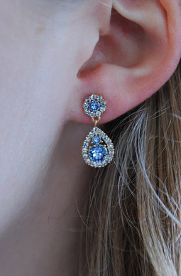 Petite Sofia earrings Light Sapphire