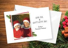 Julkort med egen bild A5