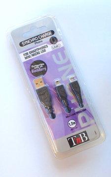 TnB Laddsladd till smartphones min micro USB