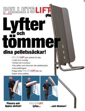 Pelletslift. Sparar din rygg och gör påfyllningen lättare.