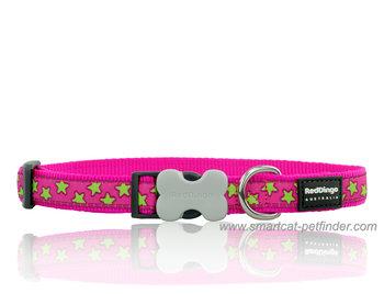 Stars Hundhalsband Hot Pink