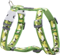 Green dog Harness Camouflage S