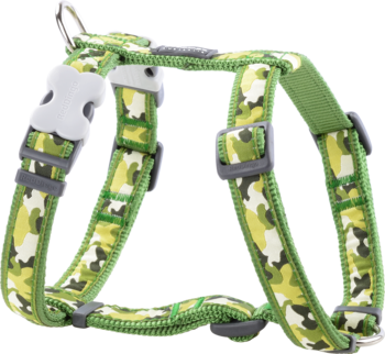 Green dog Harness Camouflage L