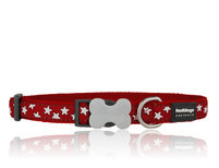 Stars Dog Collar red