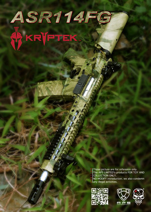 Airsoftrifle APS ASR114 Multi Cam, Low Profile Adapt Rail System Rifle