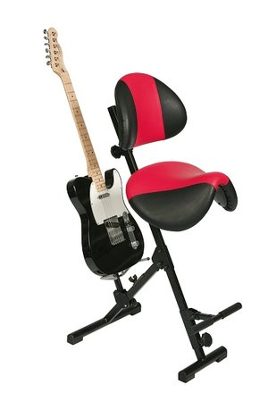 Gitarrist, sittstativ, AF-SR-KL4-AH, Röd/Svart
