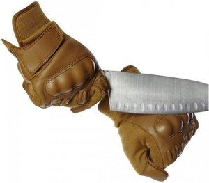 Handske, Coyote, skärresistent med knogskydd