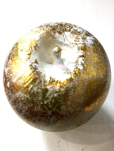 Guld äpple i trä dekoration shabby chic lantlig stil