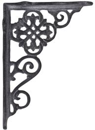Antikgrå grå konsoll hyllbärare gjutjärn snirklig shabby chic lantlig stil