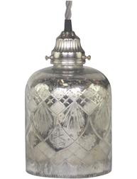 Lampa fattigmanssilver etsat mönster Shabby chic lantlig stil fransk lantstil