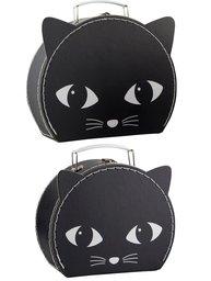 2 storlekar väska Svarta Katt resväska shabby chic lantlig stil