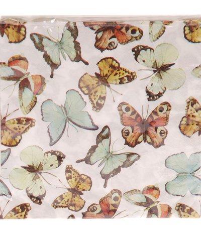 Servetter Rosa fjärilar  romantisk  fransk lantstil shabby chic lantlig stil
