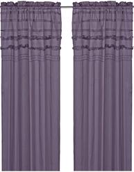 Voilegardinlängder spets  och stråveck lavendel shabby chic lantlig stil