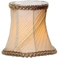 Lampskärm liten lampettskärm guld gammeldags plizzerad vägglampa lampett kristallkrona