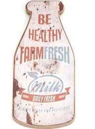 Skylt reklamskylt Farm fresch Milk shabby chic lantlig stil
