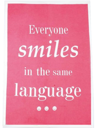 Kökshandduk handduk Everyone smiles in the same language shabby chic lantlig stil