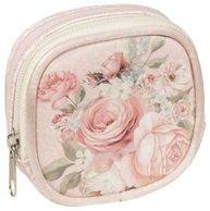 Necessär mini sminkväska börs rosa rosor romantisk shabby chic lantlig stil