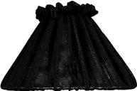 Lampskärm Vera svart veckad 3 storlekar shabby chic lantlig stil