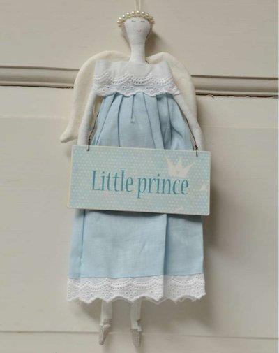 Stor ängel ljusblå blå med kjol pärlgloria shabby chic lantlig stil